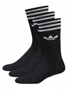 ADIDAS SOLID CREW SOCK 3 PACK (S21490)