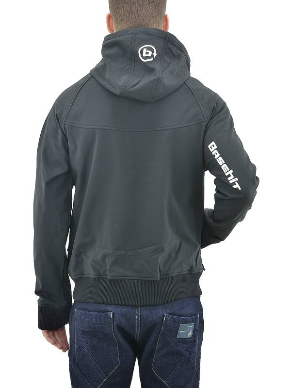 BASEHIT MEN S SOFT SHELL RIBBED JACKET WITH HOOD (182.BM11.111-BD ... 1d7e0bfee36