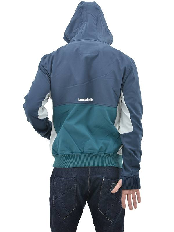 08ff4eed6aa BASEHIT MEN'S SOFT SHELL RIBBED JACKET WITH HOOD (182.BM11.68-BD ...