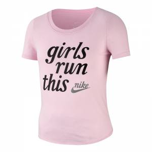 NIKE G NSW TEE SCOOP GIRLS RUN THIS (AR5064-663)