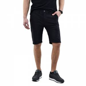 BASEHIT MEN'S STRETCH CHINO SHORT PANTS (191.BM46.92-BLACK)
