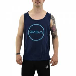 GSA TANK TOP MEN SUPERLOGO  COLOR EDITION ( INK (1719042-16)