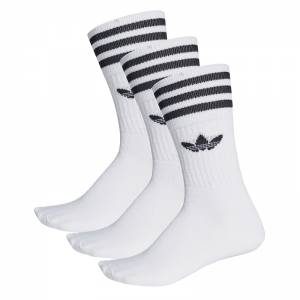 ADIDAS SOLID CREW SOCK 3 PACK (S21489)